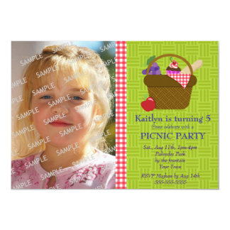 Picnic Party Photo Template Cards