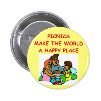 picnic picnics picknicer pinback button