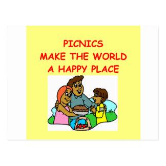 picnic picnics picknicer post cards
