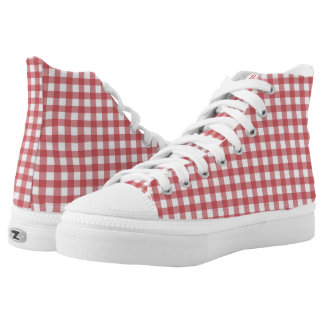 Picnic Plaid Zipz High Top Printed Shoes
