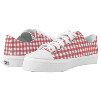 Picnic Plaid Zipz Low Top Printed Shoes