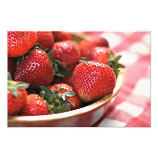 Picnic Strawberries Photograph