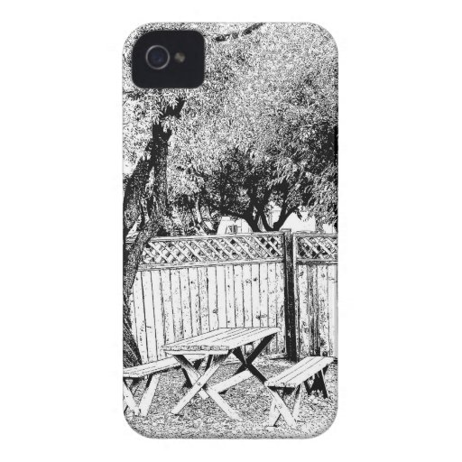Picnic Table at the Campground iPhone 4 Case-Mate Cases