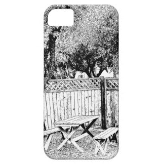 Picnic Table at the Campground iPhone 5 Case