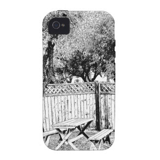 Picnic Table at the Campground Vibe iPhone 4 Case