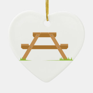 Picnic Table Christmas Ornament