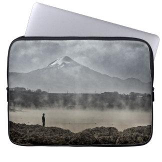 Pico De Orizaba From Achichic Lake In Puebla Laptop Computer Sleeves