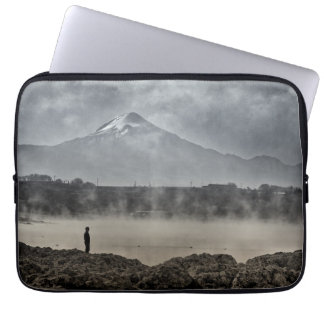 Pico De Orizaba From Achichic Lake In Puebla Laptop Sleeve