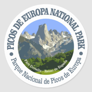 Picos de Europa National Park Classic Round Sticker