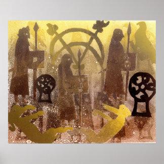 Pictish Birsay Stone Poster