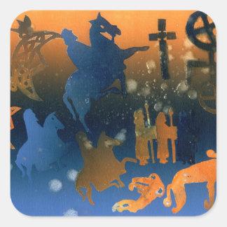 Pictish Ceremony Square Sticker