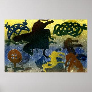 Pictish Horsemen Poster