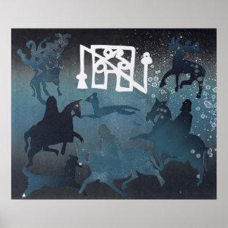 Pictish Hunting Scene I 1995 Poster