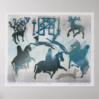 Pictish Hunting Scene III 1995 Poster