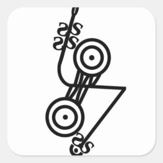 Pictish z-rod & discs square stickers