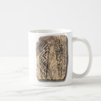 Pictograph men-stone coffee mug