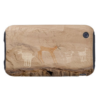 Pictographs of antelope, sheep and goats on iPhone 3 tough case