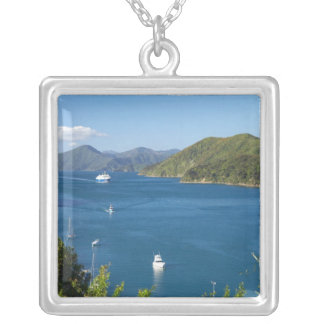 Picton Harbour, Marlborough Sounds, South Silver Plated Necklace