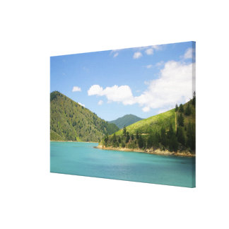 Picton, New Zealand. The gateway between North Canvas Print