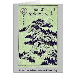 Pictorial for Hokusais 36 views of Mount Fuji Cards
