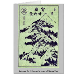 Pictorial for Hokusais 36 views of Mount Fuji Note Card