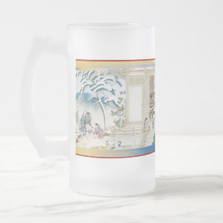Pictorial Life of Nichiren Shonin pt.10 16 Oz Frosted Glass Beer Mug