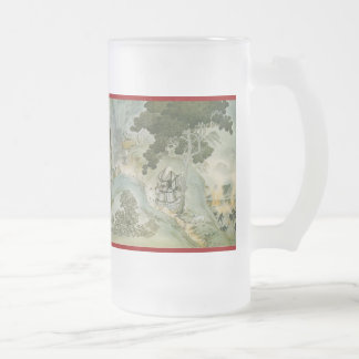 Pictorial Life of Nichiren Shonin pt.12 16 Oz Frosted Glass Beer Mug