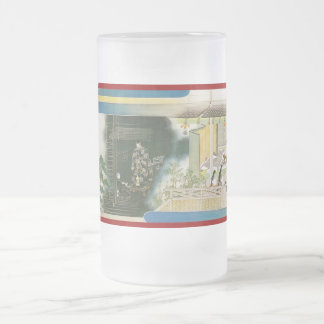 Pictorial Life of Nichiren Shonin pt.14 16 Oz Frosted Glass Beer Mug