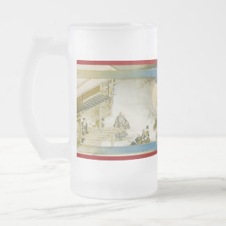 Pictorial Life of Nichiren Shonin pt.18 16 Oz Frosted Glass Beer Mug