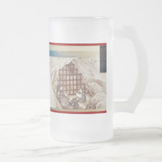 Pictorial Life of Nichiren Shonin pt.19 16 Oz Frosted Glass Beer Mug