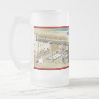 Pictorial Life of Nichiren Shonin pt.21 16 Oz Frosted Glass Beer Mug