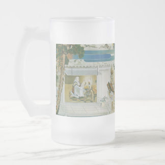 Pictorial Life of Nichiren Shonin pt.22 Frosted Glass Beer Mug