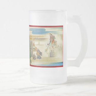 Pictorial Life of Nichiren Shonin pt.24 16 Oz Frosted Glass Beer Mug
