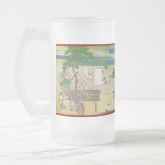 Pictorial Life of Nichiren Shonin pt.2 16 Oz Frosted Glass Beer Mug