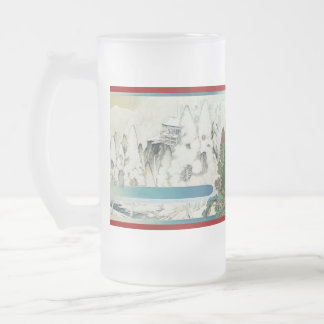 Pictorial Life of Nichiren Shonin pt.5 16 Oz Frosted Glass Beer Mug