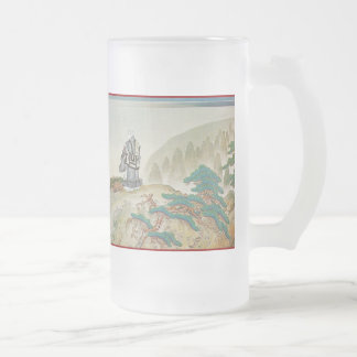 Pictorial Life of Nichiren Shonin pt.7 16 Oz Frosted Glass Beer Mug
