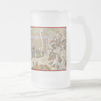 Pictorial Life of Nichiren Shonin pt.9 16 Oz Frosted Glass Beer Mug