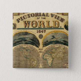 Pictorial View of the World 15 Cm Square Badge