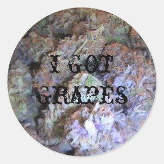 Picture 005, i got grapes classic round sticker