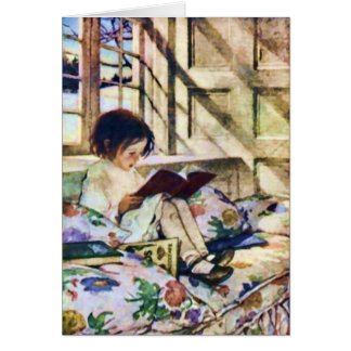 Picture Books in Winter by Jessie Willcox Smith Greeting Card
