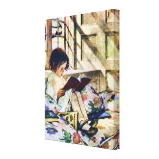 Picture Books in Winter Canvas Print