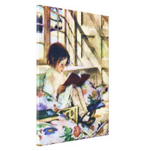 Picture Books in Winter Canvas Prints