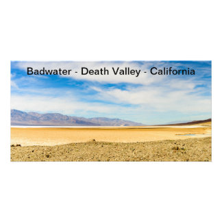 """Picture Card Badwater Death Valley California 4X8"""""""