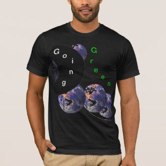 Picture Earth 3 - Going Green Men's Black Tshirt