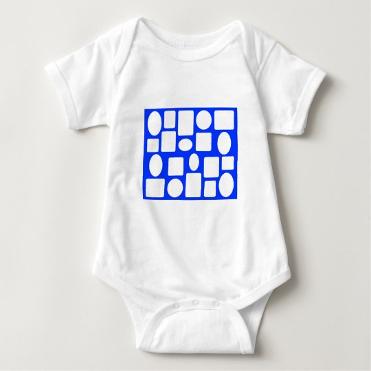 Picture Frame Landscape Blue The MUSEUM Zazzle Baby Bodysuit