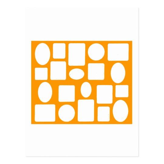 Picture Frame Landscape Orange The MUSEUM Zazzle Postcard