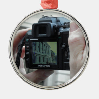 Picture in picture christmas ornament