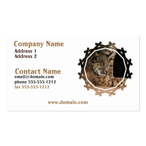 Picture of a Bobcat Business Card