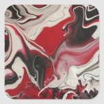 Picture of an Abstract painting by S.B. Eazle Square Stickers