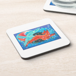 Picture of Animals, A fox and A Hare. Coaster